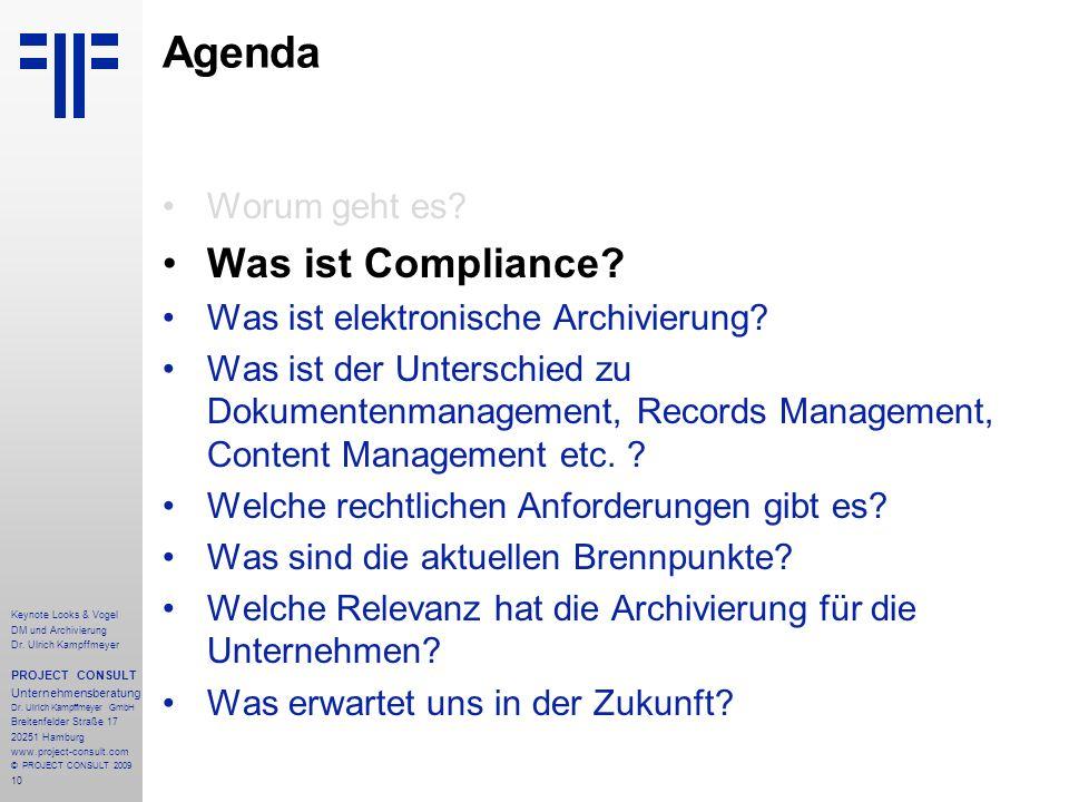 Agenda Was ist Compliance Worum geht es