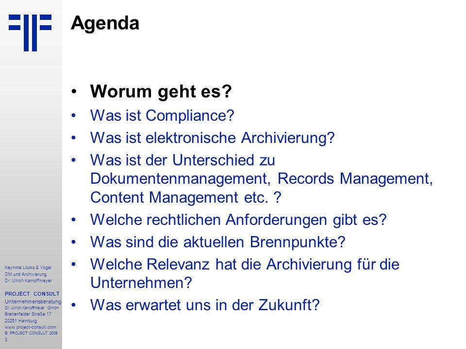 Agenda Worum geht es Was ist Compliance