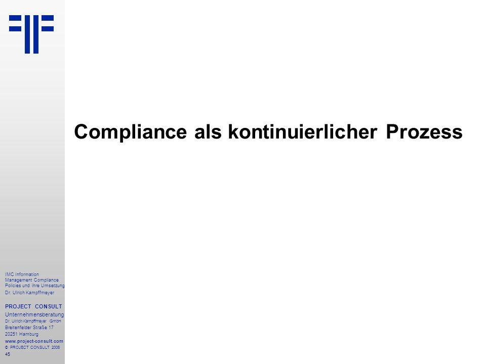 Compliance als kontinuierlicher Prozess