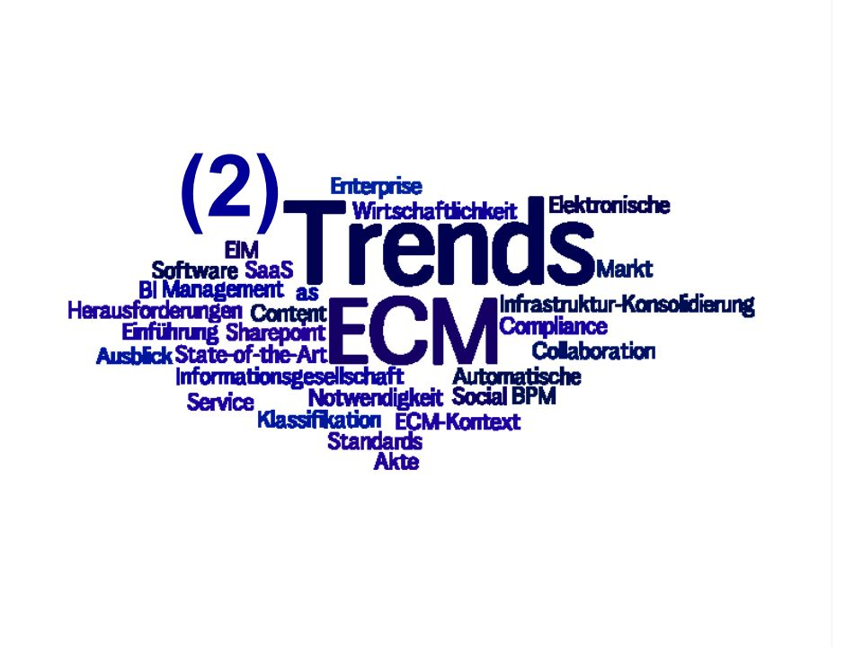 (2) PROJECT CONSULT Unternehmensberatung ECM Trends 2010 COI GmbH