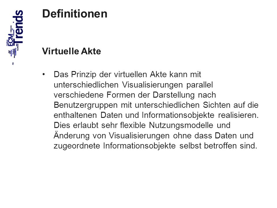 Definitionen Virtuelle Akte