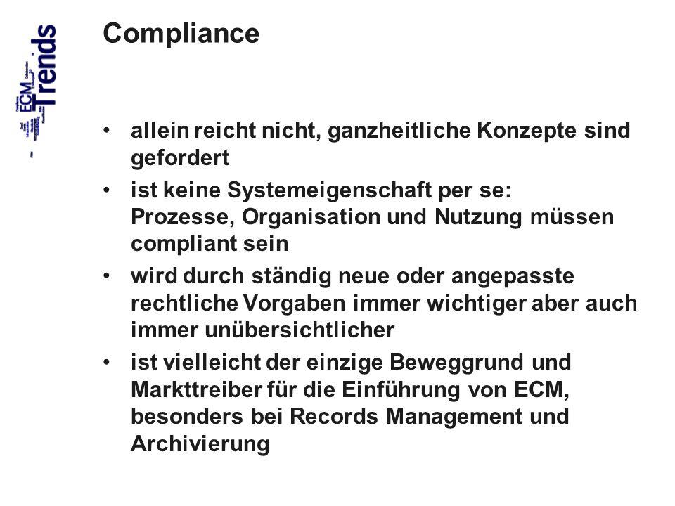 Compliance allein reicht nicht, ganzheitliche Konzepte sind gefordert