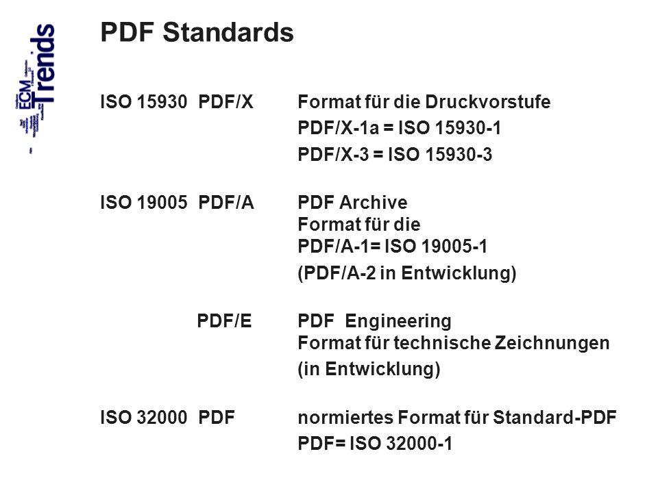 PDF Standards ISO 15930 PDF/X Format für die Druckvorstufe