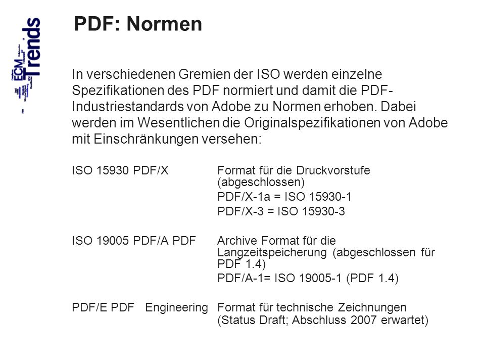 PDF: Normen