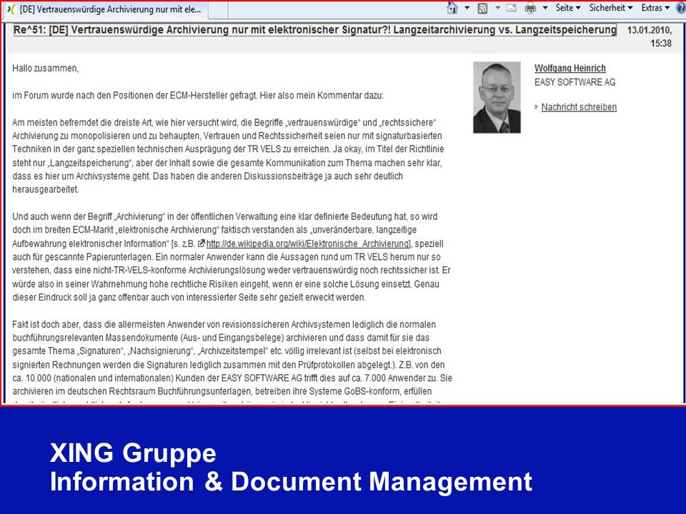 XING Gruppe Information & Document Management