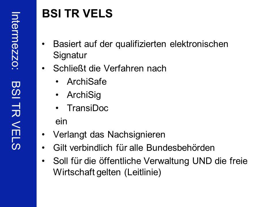 Intermezzo: BSI TR VELS