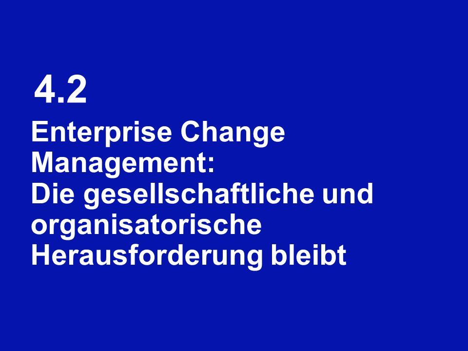 4.2 Enterprise Change Management: Die gesellschaftliche und organisatorische Herausforderung bleibt.