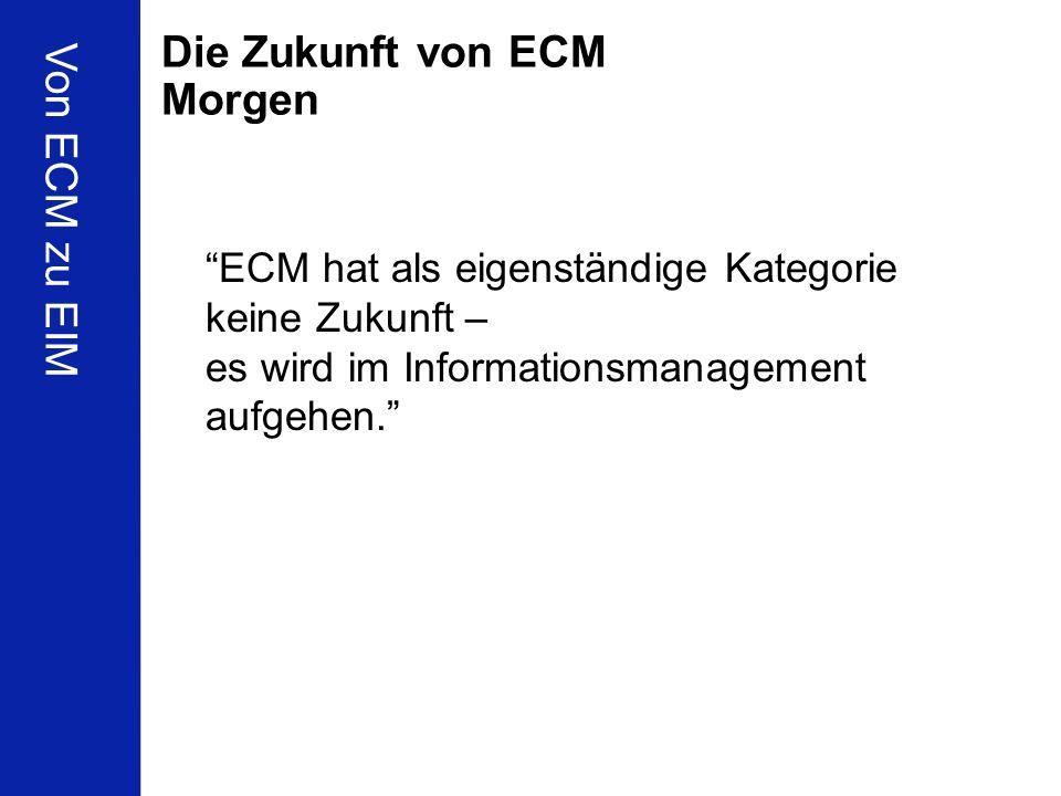 Die Zukunft von ECM Morgen