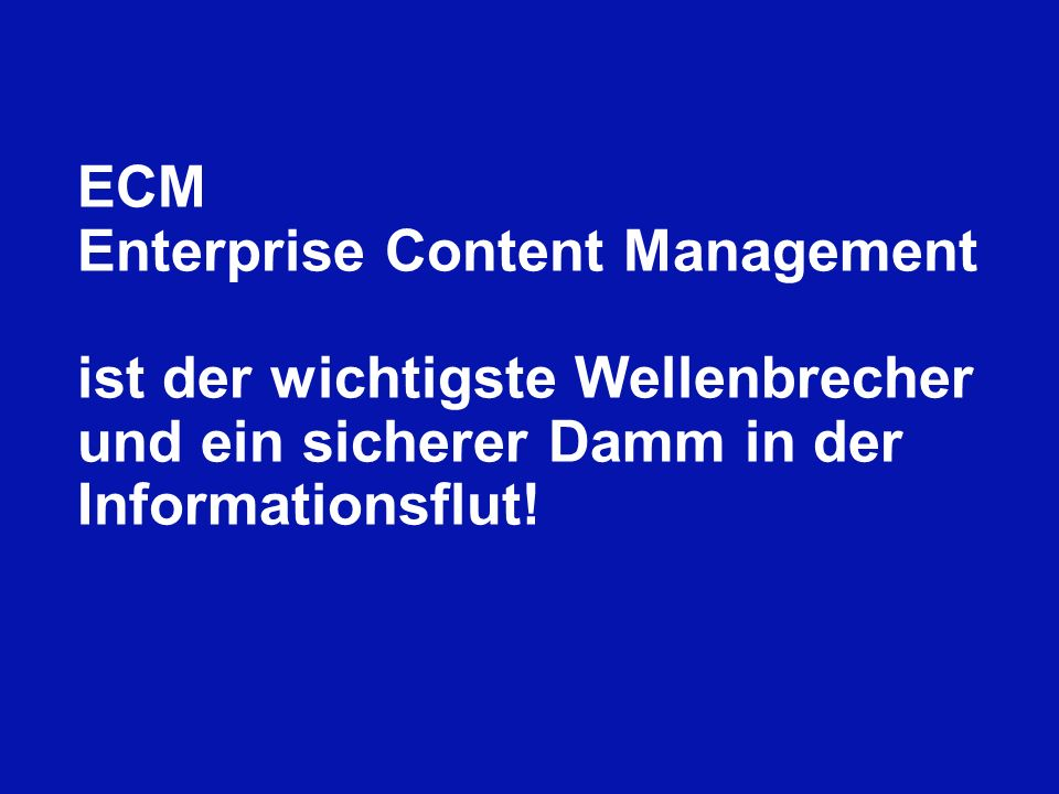 ECM Enterprise Content Management.