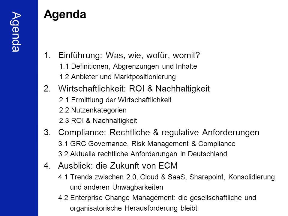 Agenda Agenda Einführung: Was, wie, wofür, womit