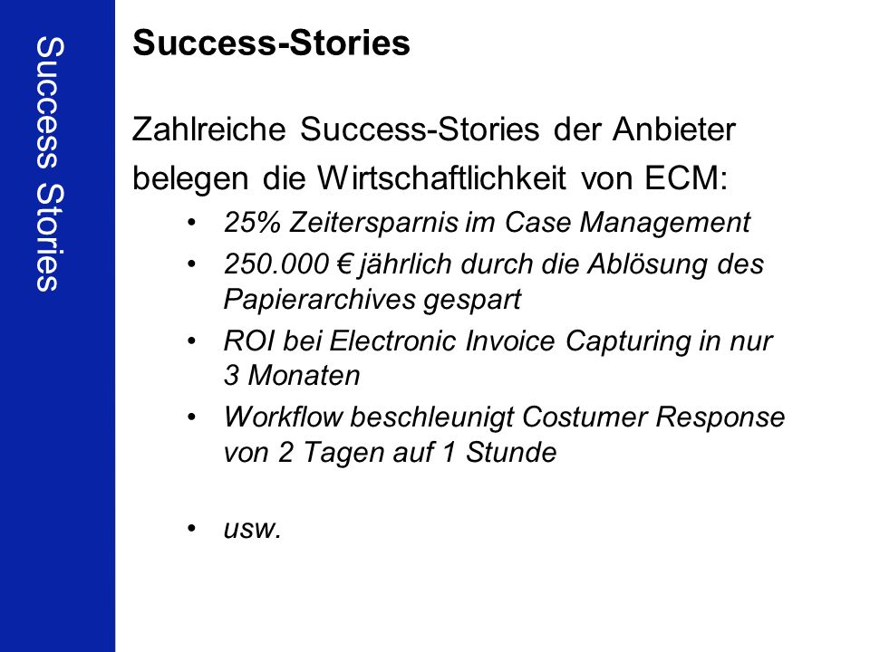 Success-Stories Success Stories