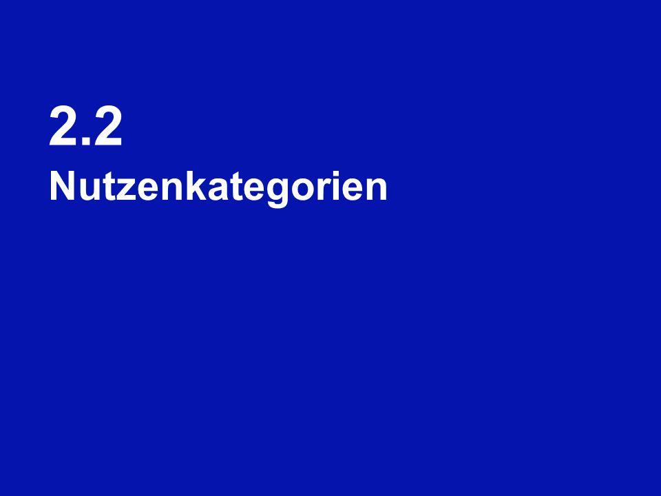 2.2 Nutzenkategorien