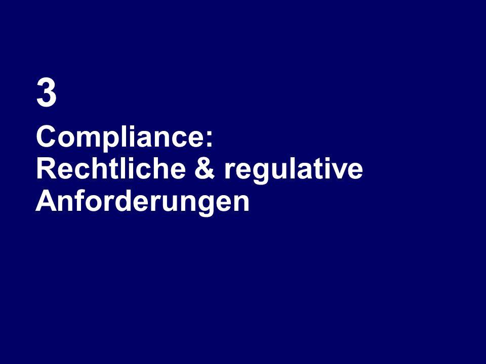 3 Compliance: Rechtliche & regulative Anforderungen
