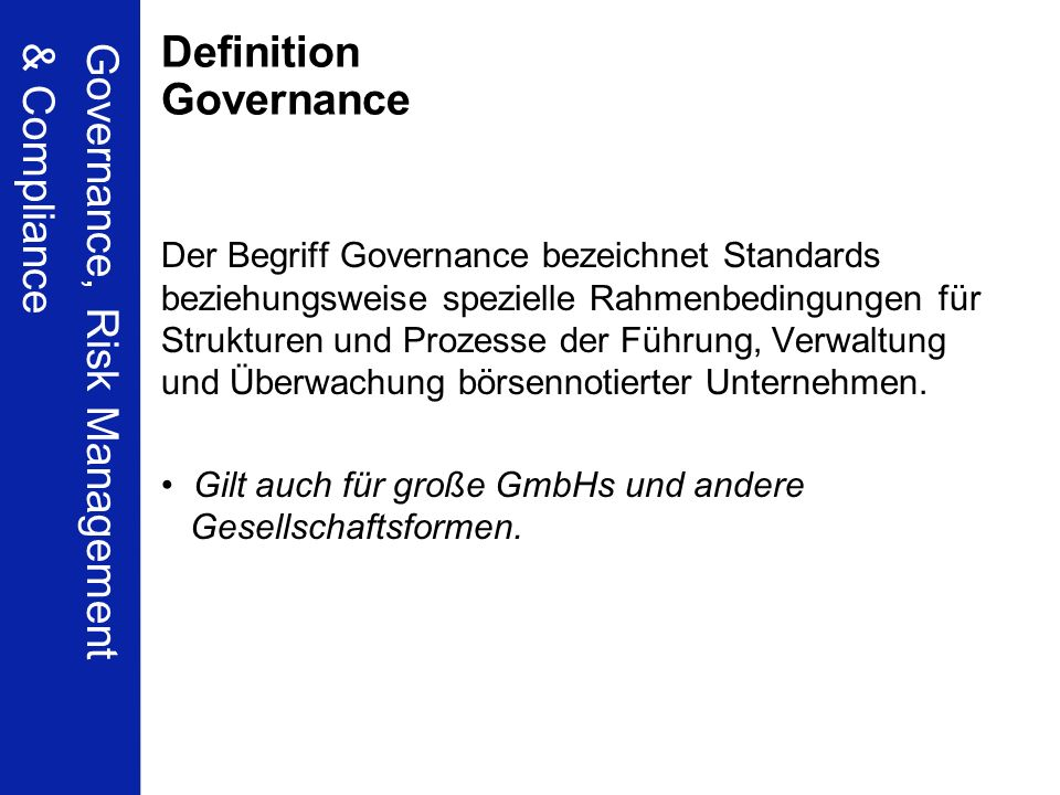 Definition Governance
