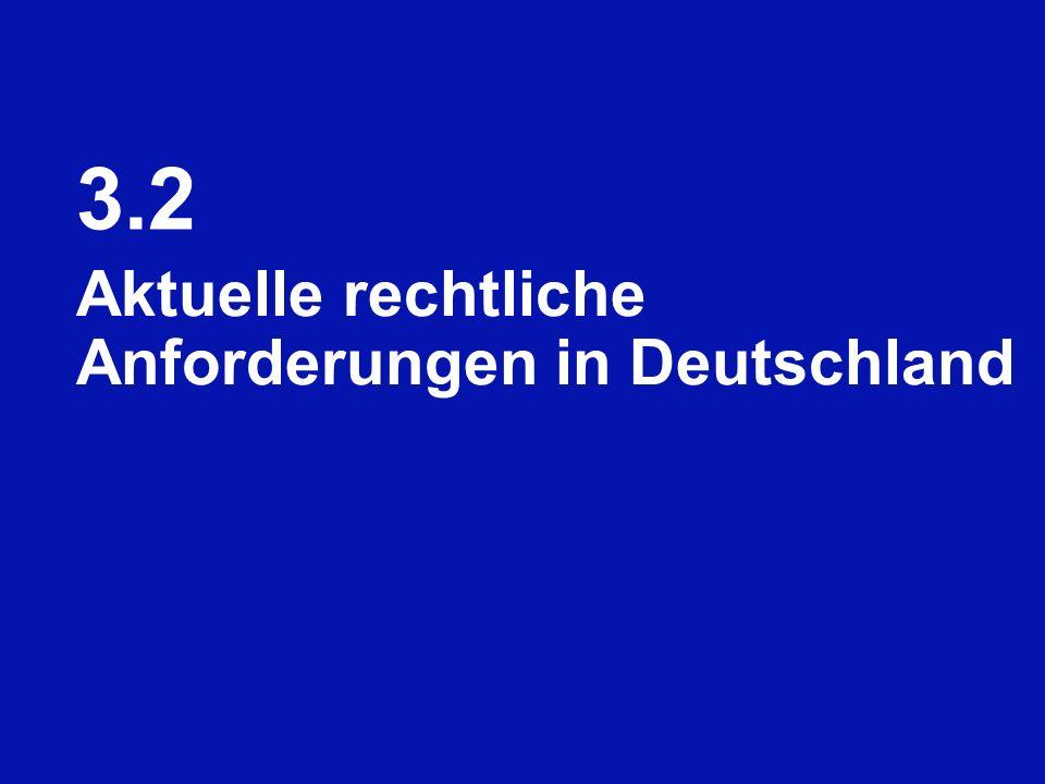 3.2 Aktuelle rechtliche Anforderungen in Deutschland