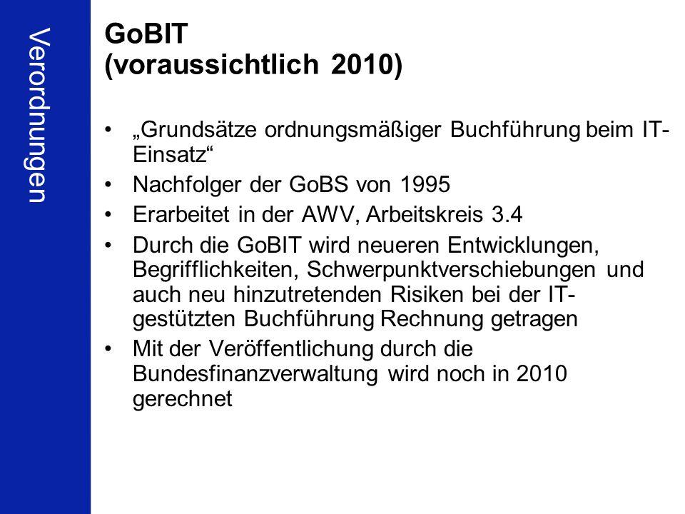 GoBIT (voraussichtlich 2010)