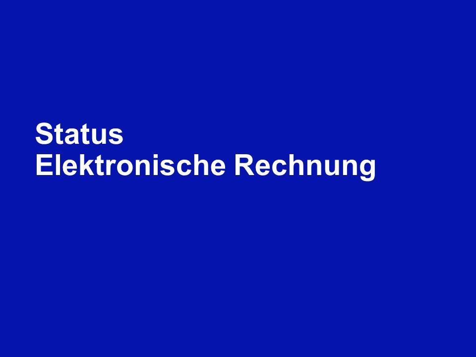 Status Elektronische Rechnung