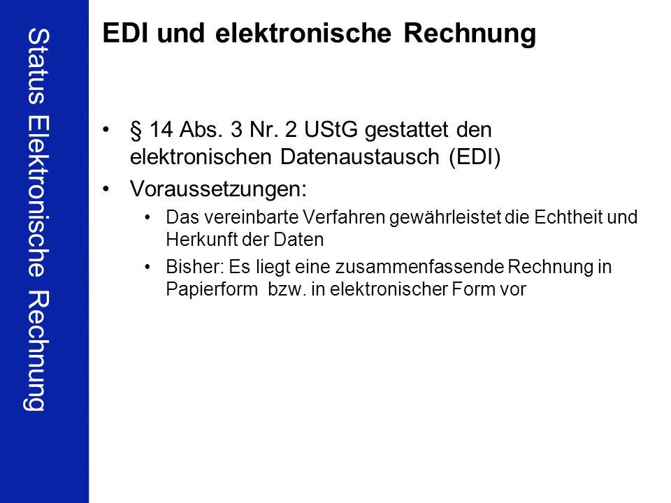 EDI und elektronische Rechnung