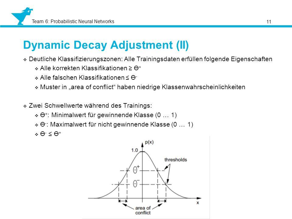 Dynamic Decay Adjustment (II)
