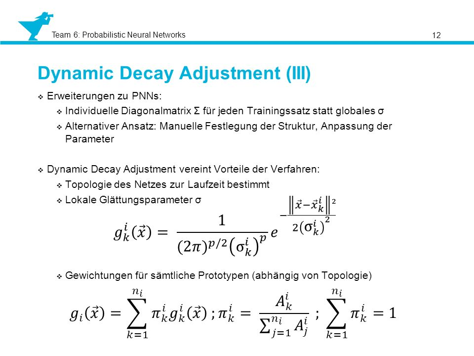 Dynamic Decay Adjustment (III)
