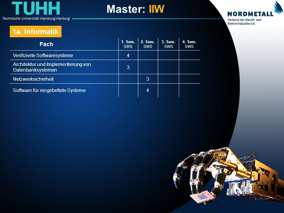 Master: Informatik-Ingenieurwesen (5)
