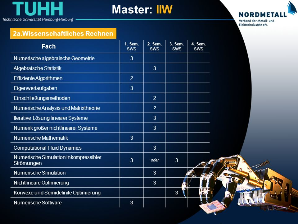 Master: Informatik-Ingenieurwesen (11)