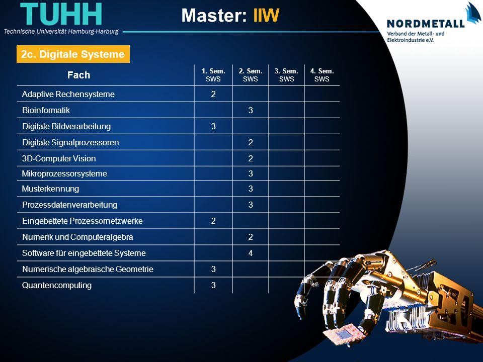 Master: Informatik-Ingenieurwesen (15)