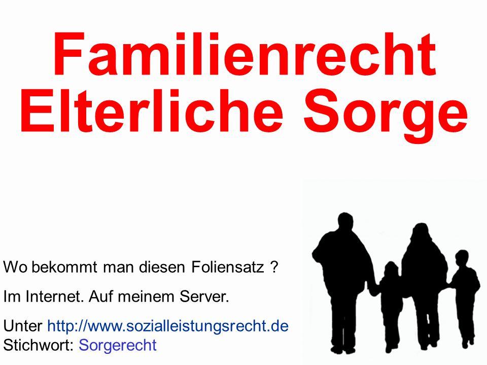 Familienrecht Elterliche Sorge