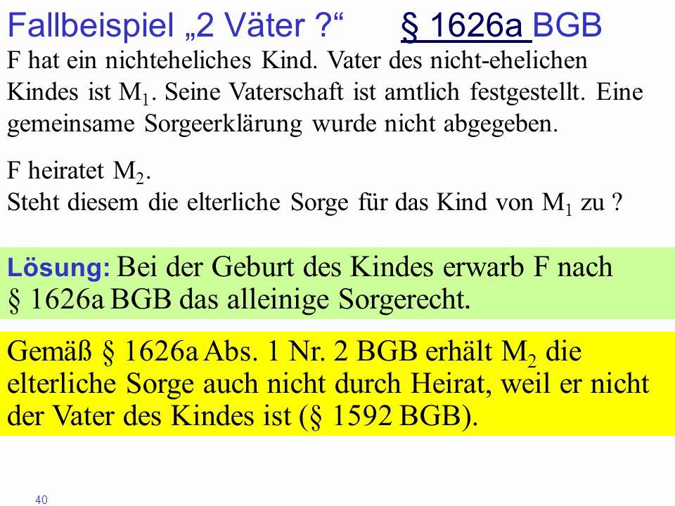 """Fallbeispiel """"2 Väter § 1626a BGB"""