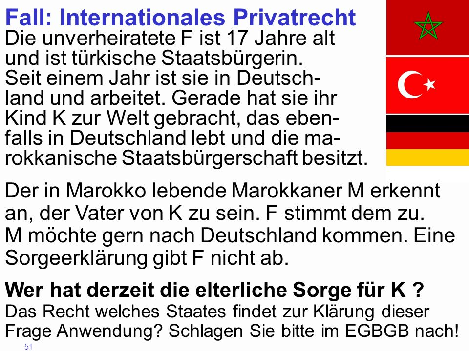 Fall: Internationales Privatrecht
