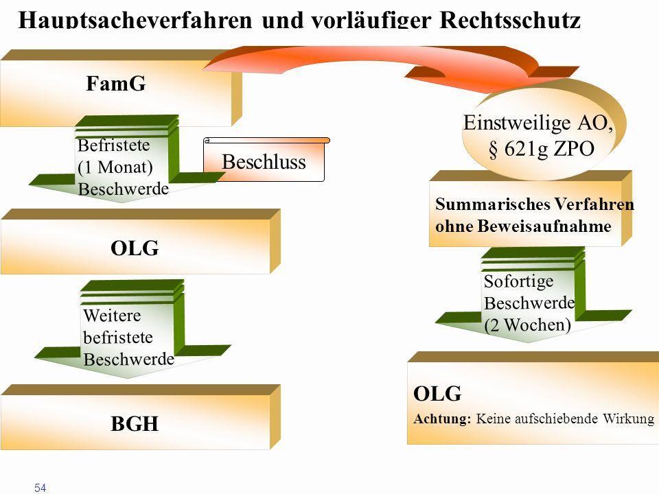 Hauptsacheverfahren und vorläufiger Rechtsschutz