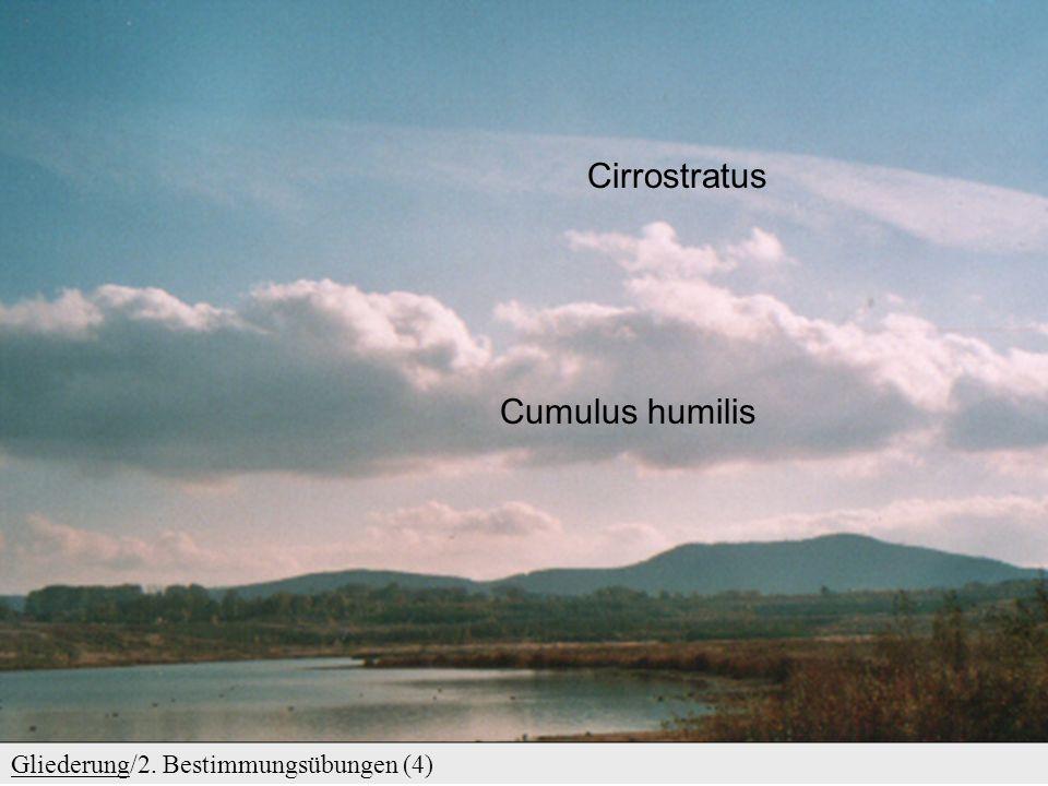 Cirrostratus Cumulus humilis Gliederung/2. Bestimmungsübungen (4)