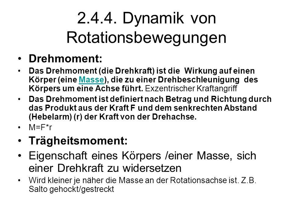 2.4.4. Dynamik von Rotationsbewegungen