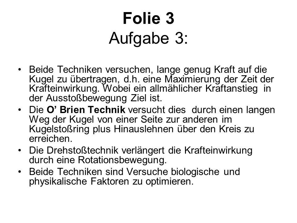 Folie 3 Aufgabe 3: