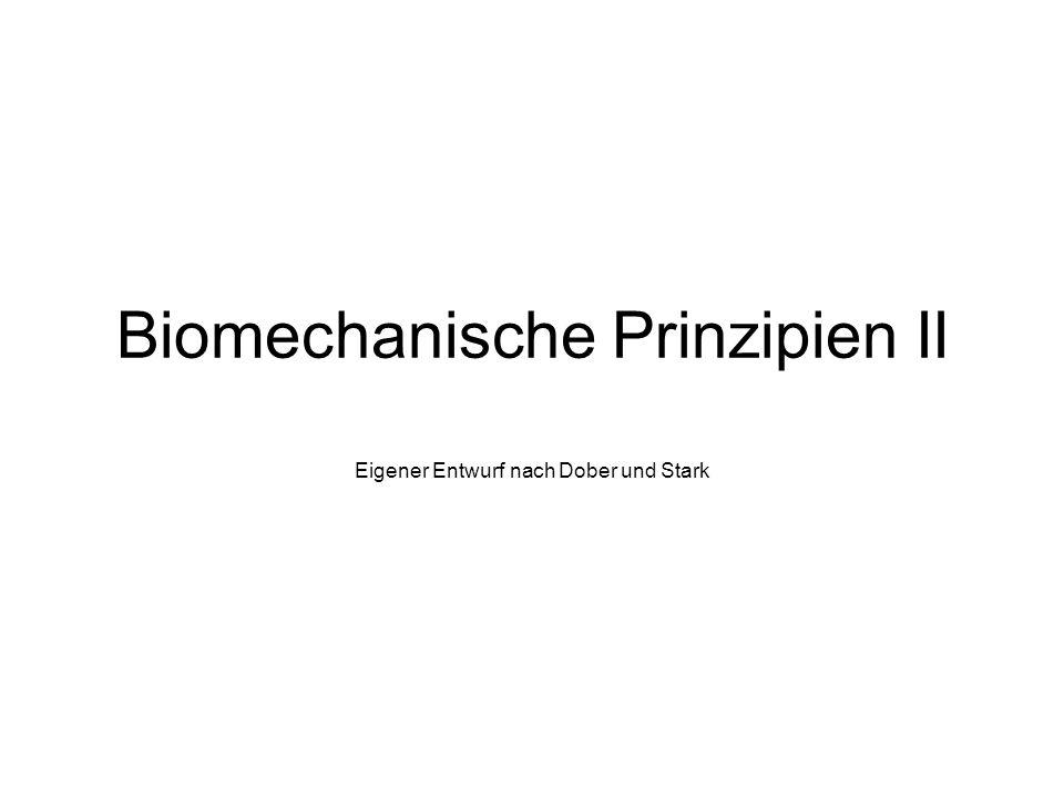 Biomechanische Prinzipien II