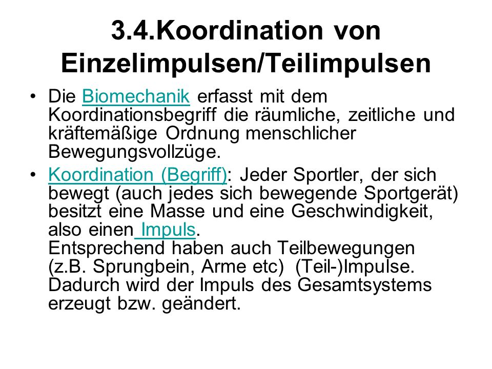 3.4.Koordination von Einzelimpulsen/Teilimpulsen