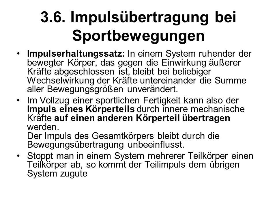 3.6. Impulsübertragung bei Sportbewegungen