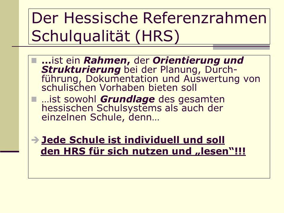 Der Hessische Referenzrahmen Schulqualität (HRS)