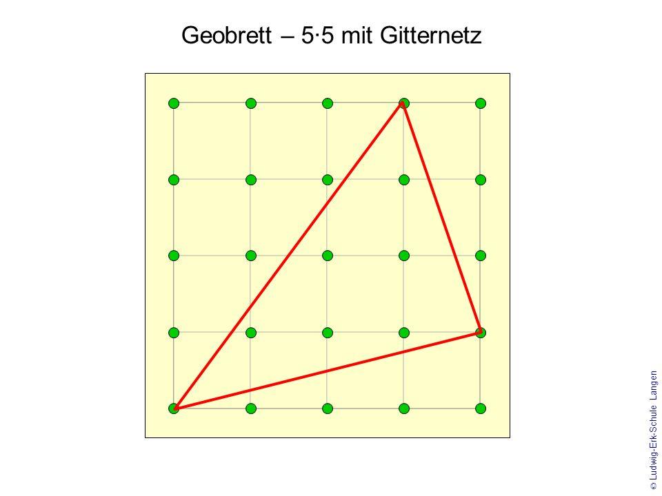 Geobrett – 5·5 mit Gitternetz
