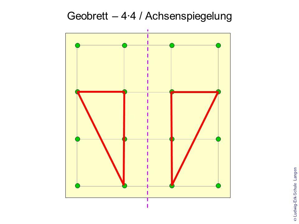Geobrett – 4·4 / Achsenspiegelung