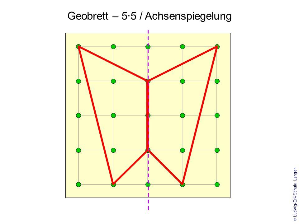Geobrett – 5·5 / Achsenspiegelung