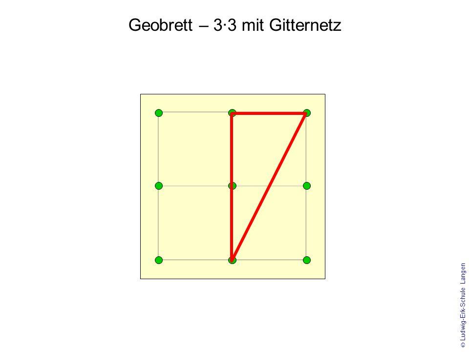 Geobrett – 3·3 mit Gitternetz