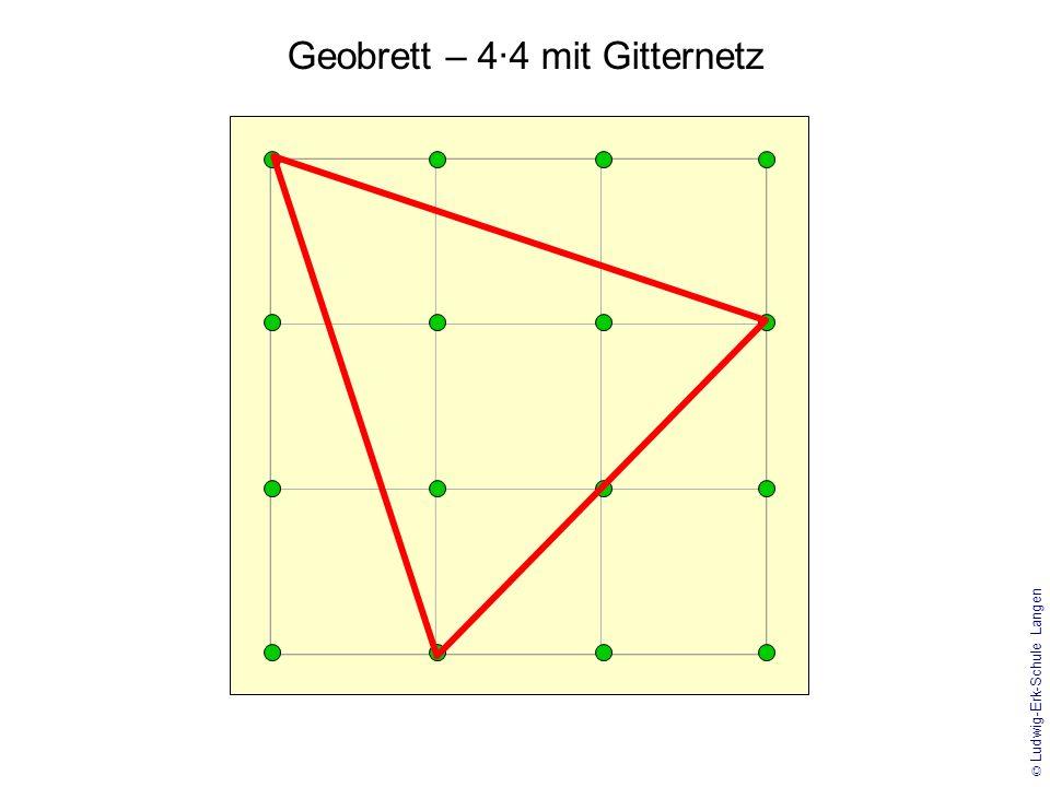 Geobrett – 4·4 mit Gitternetz