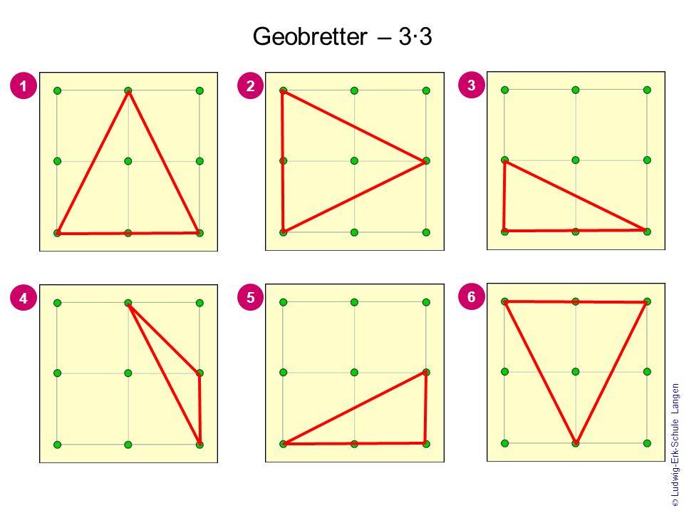 Geobretter – 3·3