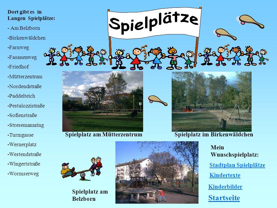Startseite Spielplatz am Mütterzentrum Spielplatz im Birkenwäldchen