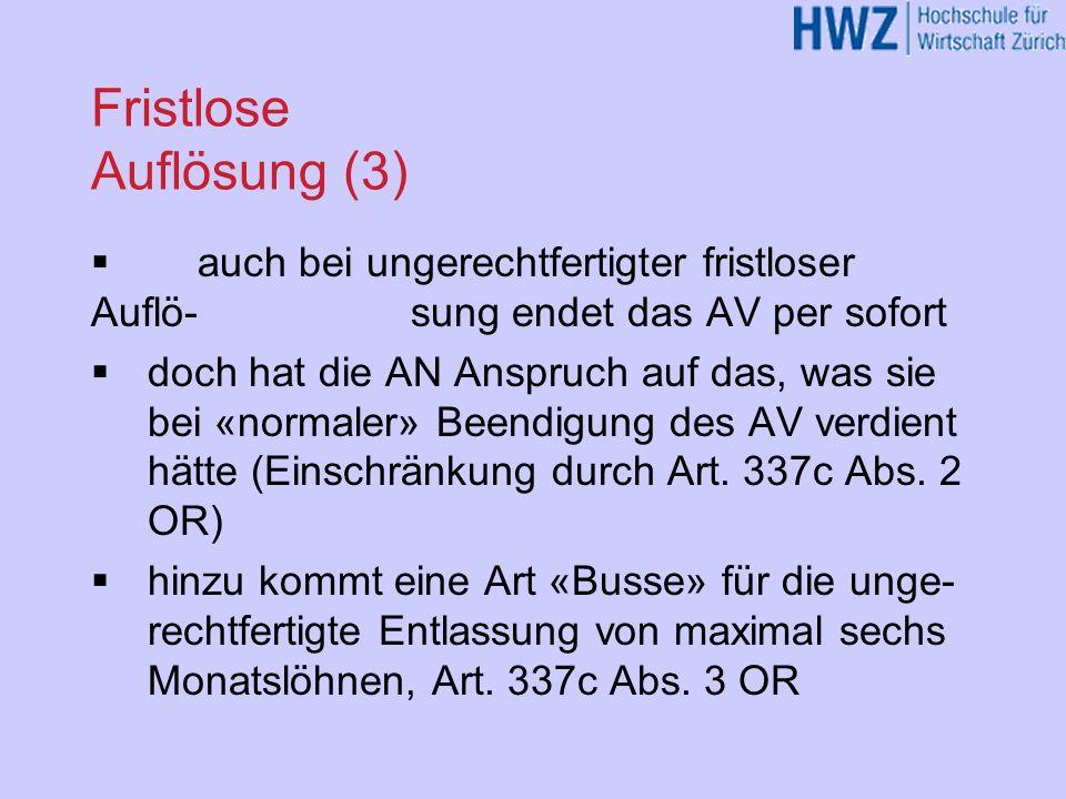 Fristlose Auflösung (3)