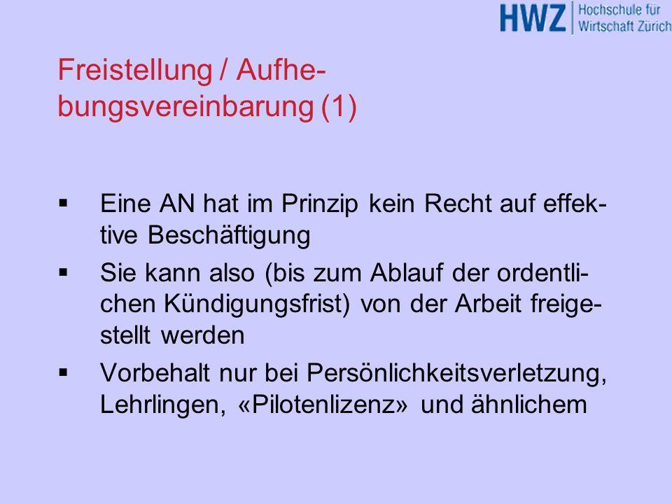 Freistellung / Aufhe-bungsvereinbarung (1)