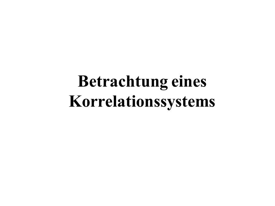 Betrachtung eines Korrelationssystems