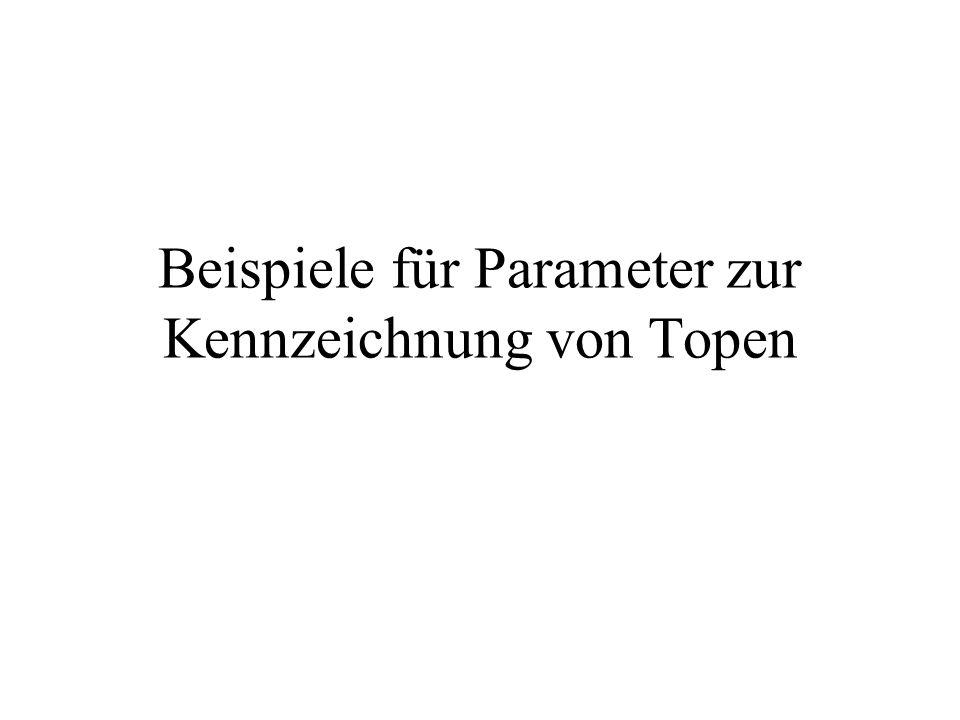 Beispiele für Parameter zur Kennzeichnung von Topen