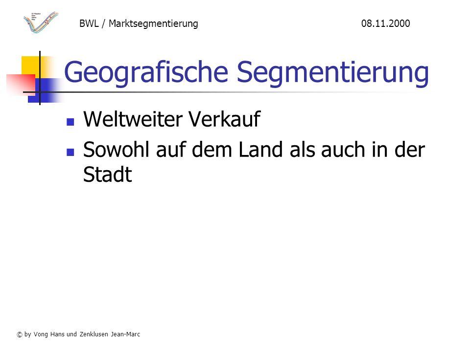 Geografische Segmentierung